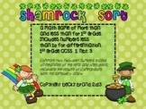 Shamrock Sort - comparing two digit numbers, place value, CCSS