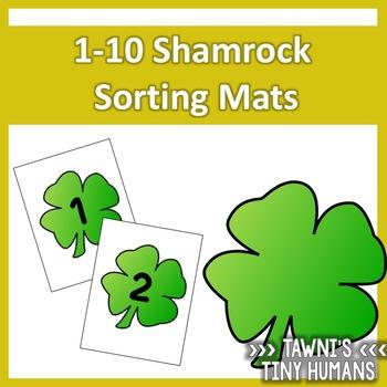 Shamrock Sorting Mats 1-10