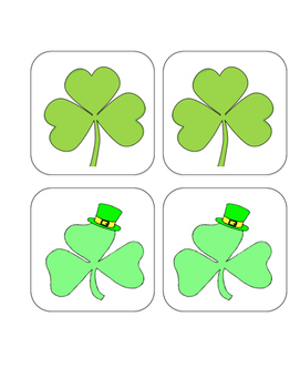 Shamrock - St. Patrick's Day - Matching and Memory Game - 11 pairs!