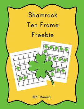 Shamrock St. Patrick's Day Ten Frame Freebie