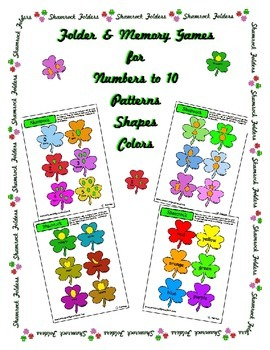 Shamrock St Patrick's Memory Folder Center Activity Color