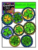 Shamrock Stamps {Creative Clips Digital Clipart}