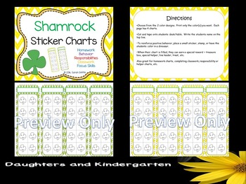 Shamrock Sticker Charts