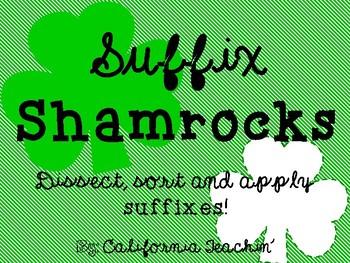 St. Patrick's Day Shamrock Suffixes Activity