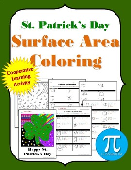 Shamrock Surface Area Coloring Activity