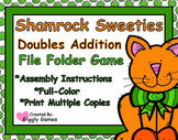 Shamrock Sweeties Doubles Addition File Folder Game