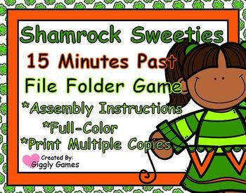 Shamrock Sweeties Quarter Past Time File Folder Game