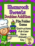 Shamrock Sweets Doubles Addition File Folder Game