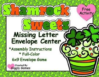 Shamrock Sweets Missing Letter Envelope Center