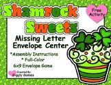 Shamrock Sweets Missing Letter Envelope Center