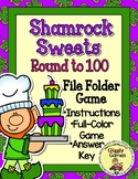 Shamrock Sweets Round to the Nearest Hundred File Folder Game