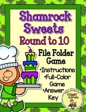 Shamrock Sweets Round to the Nearest Ten File Folder Game