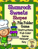 Shamrock Sweets Shapes File Folder Game