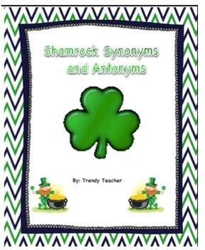 Shamrock Synonym and Antonym Activity
