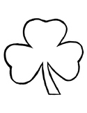 Shamrock Template for Art Project Shamrock Coloring Page S