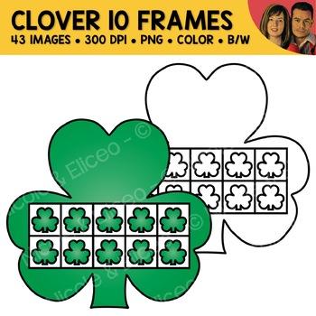 Shamrock Ten Frame Clipart