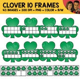 Shamrock Ten Frame Clipart