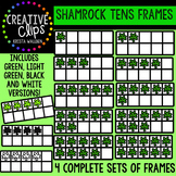 Shamrock Tens Frames {Creative Clips Digital Clipart}