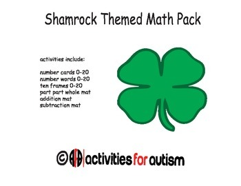 Shamrock Themed Math Pack--Great for ABA, SPED, and Centers
