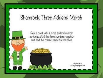 Shamrock Three Addend Match
