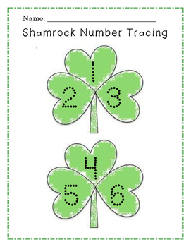 Shamrock Tracing Numbers