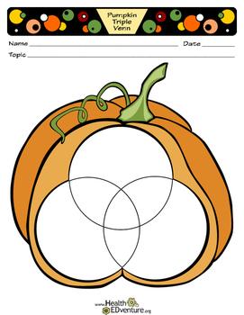 Pumpkin Triple Venn Graphic Organizer