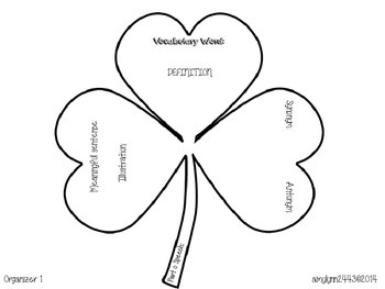 Shamrock Vocabulary Organizers and Greek and Latin Root Word Activity