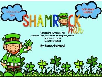 Shamrock War- Comparing Numbers Game 1-99