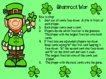 Shamrock War Fraction Game