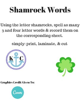 Shamrock Words