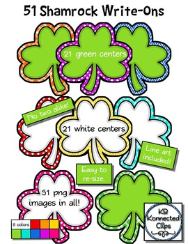 Shamrock Write-Ons - (labels and tags) - Clip Art for St.