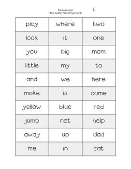 Shamrock, Write the Room ~ Kindergarten/First Grade Dolch Words