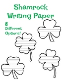 Shamrock Writing Paper Template St. Patrick's Day Writing Paper Shamrock Paper