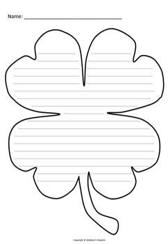 Shamrock Writing Template