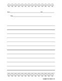 March Shamrock Writing Paper Template St. Patrick's Day