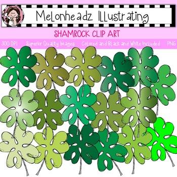 Shamrock clip art - Single Image - Melonheadz Clipart