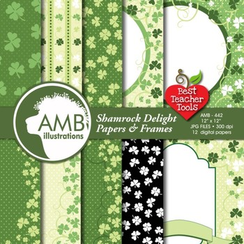 Digital Papers, St. Patricks Day Papers and Backgrounds, AMB-442