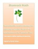 Shamrock math! PreK-1st grade reproducible St. Patrick's Day math activities