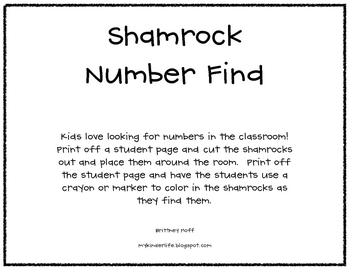 Shamrock number find