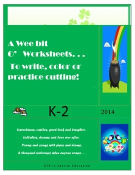 St. Patricks day cutting & writing tasks