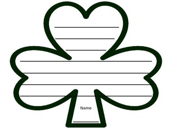 Shamrock with lines
