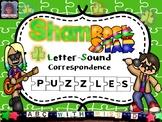 Shamrockin' Phonics Puzzles- Letter Sound Correspondence for St. Patrick's Day