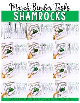 Shamrocks Bundle- Independent Work Binder System