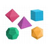 Geometric Shapes Clipart   Geometry 3D Solids   Math Graphics