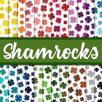 Shamrocks Digital Paper Pack - 24 Different Papers - 12 x 12