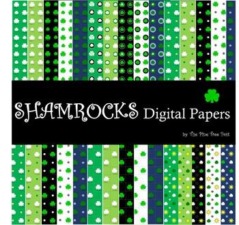 Shamrocks Digital Papers