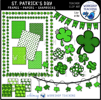 Shamrocks Frames and Papers Bundle