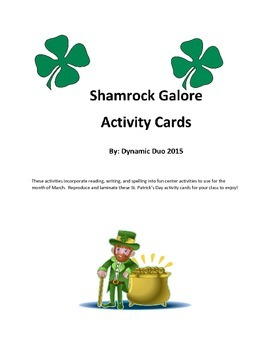 Shamrocks Galore Activity Cards-St. Patrick's Day