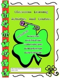 Shamrocks Game and Activity Pack- Math, Phonics, and Writing