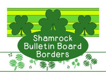 photograph regarding St Patrick's Day Clover Printable identify Shamrocks March St. Patricks Working day Bulletin Board Border Printable Entire Shade PDF